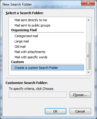how to create a unread folder in outlook 2010