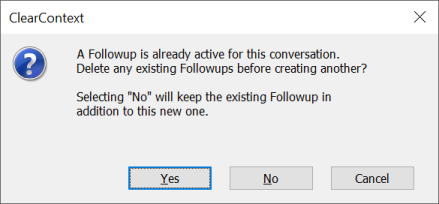 Existing Followup Option